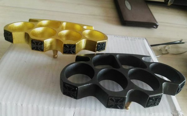 Detective BRASS KNUCKLE DUSTERS GOLD Silver Good luck Cross Eagle head Powerful damage safety equipment self-defense Tool