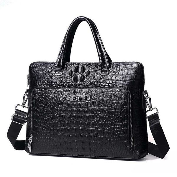 Special Offer! High Grade Alligator Pattern Genuine Leather Handbags Classic Cowhide Business Men Briefcase #286775