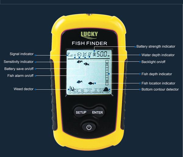 Lucky Fish Finder Sounder Wireless Sonar Fishing Underwater Camera Deeper Depth Probe For Detector Radar FFW1108-1 Fishfinder
