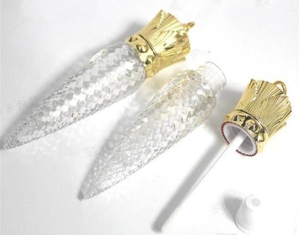 5 ml Forma de varillas claras Tubo de brillo de labios vacío Contenedor de brillo de labios DIY Reina Transparente Botella de lápiz labial líquido vacío 2019022209
