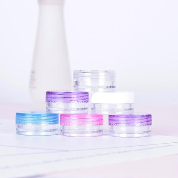 Runde Plastikunterflasche Mini-Gesichtscreme-Kasten-Kunden-Beispielkasten-kosmetische Geschenk-Verpackungs-Flasche 1.5 * 3cm 3g
