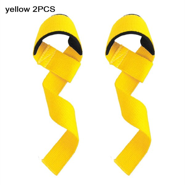 2PCS Weightlifting Hand Pad Wrist Wraps Straps Gloves for Women Gym Support Lifting Grip Belt Training Fitness Weight 57*3.8cm #496036