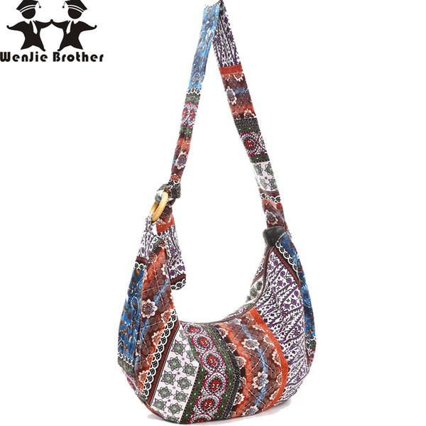 wenjie fratello 2018 Nuova moda tela floreale signore grande borsa di stoffa borsa personalizzata borsa delle donne # 227466
