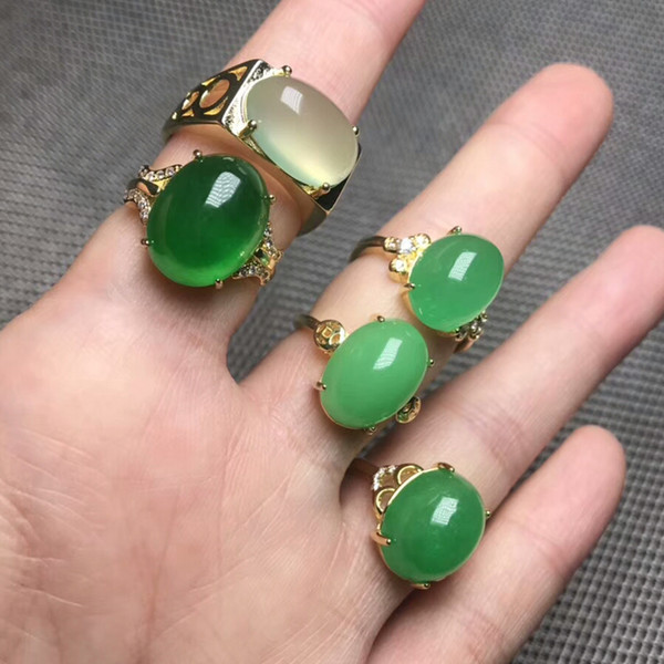 W0147 australian jade meaning apple green jade antique imperial jade ring for nanyang china