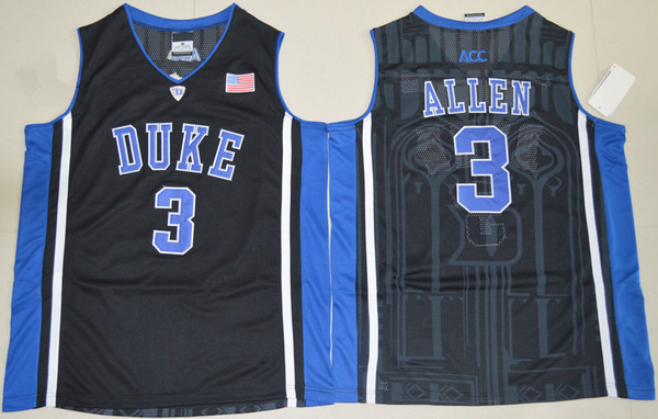 Jayson Tatum Duke Blue White Black Devils Grayson Allen Stitched Men's Zion Williamson College Basketball Jersey