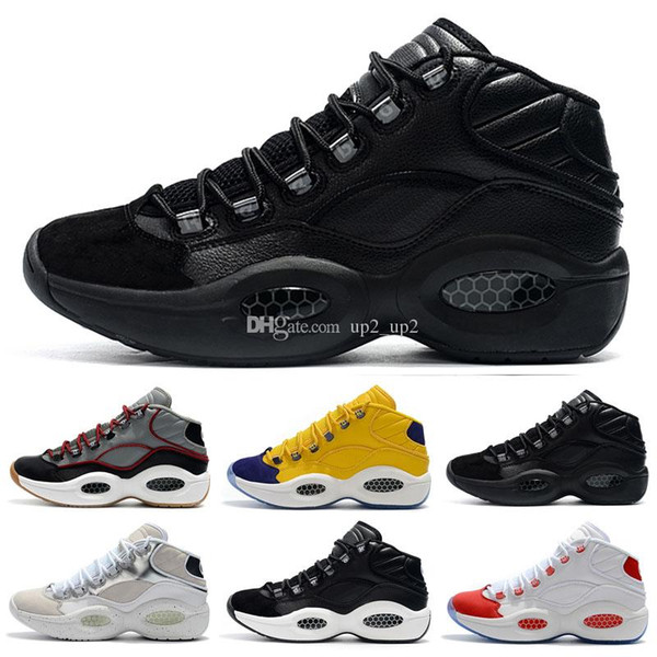 designer shoes Allen Iverson Question Mid Q1 Outdoor Shoes Answer 1s Zoom mens running Athletic shoes luxury Elite Sport Sneakers EU40-46