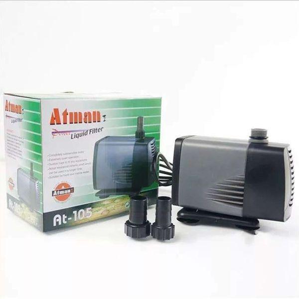 Atman AT101-107 350-5000L/H Aquarium Submersible Pump Fish Tank Water Pump Liquid Filter Poweheader Various Outlet Connector