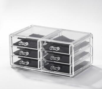 Acrylic Plastic Cosmetics Jewelry Storage Box Desktop Transparent Makeup Lipstick Display Case 8 Styles Clear Drawer Makeup Organizer