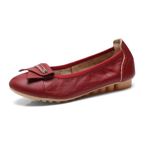 Taille Plus 47 Doux Femmes Appartements 2019 Printemps Automne Mocassins Chaussures Plates Femme Casual Infirmière Travail Ballet Chaussures Femmes Noir Rouge Blanc