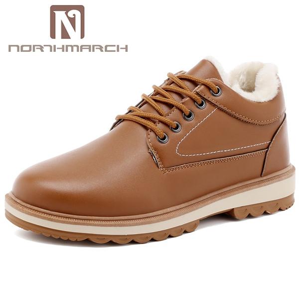 Venta al por mayor de alta calidad de cuero de los hombres botas invierno botines impermeables mantener calientes botas de nieve zapatos de hombre Botas Nieve Hombre