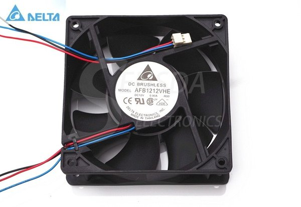 For Delta AFB1212VHE 120mm 12cm DC 12V 0.90A 3-pin 3-wire server inverter axial blower cooler cooling fan