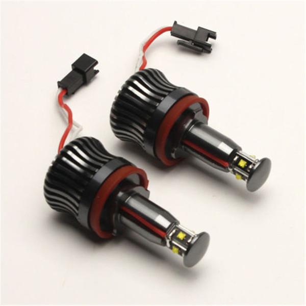2X 20W H8 White LED Light marker Auto Angel Eyes for E90 E91 E92 E93 Lights Bulbs For E60 E61 E70 E71 E90 E92 E93 X5 X6 Z4 M3