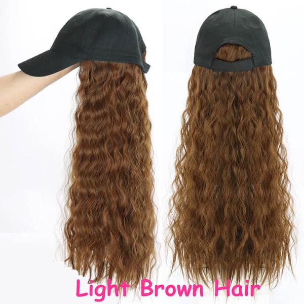sombrero Basebacll luz cabello castaño rizado