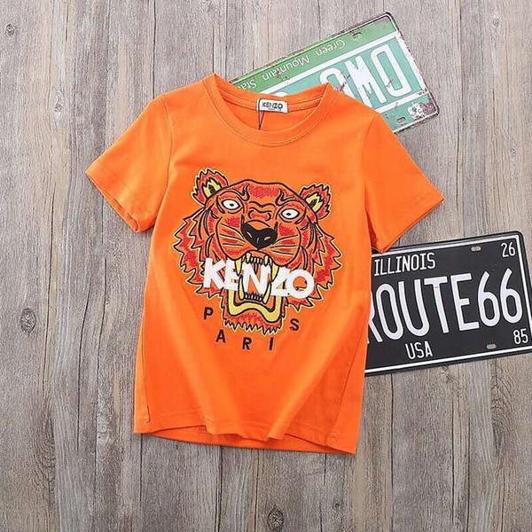 Maglietta del progettista dei capretti 2019 nuova maglietta ricamata della maglietta della maglietta ricamata della stampa di nuova estate nuova di modo manicotti multicolori dei bambini dei vestiti