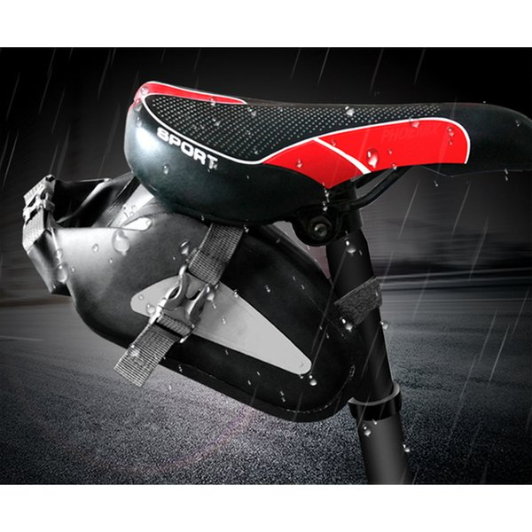 New Waterproof Bicycle Saddle Bag Bike Rear Bag Reflective Cycling Rear Seat Tail Bag Bike Panniers Bicycle Accessories Pocket