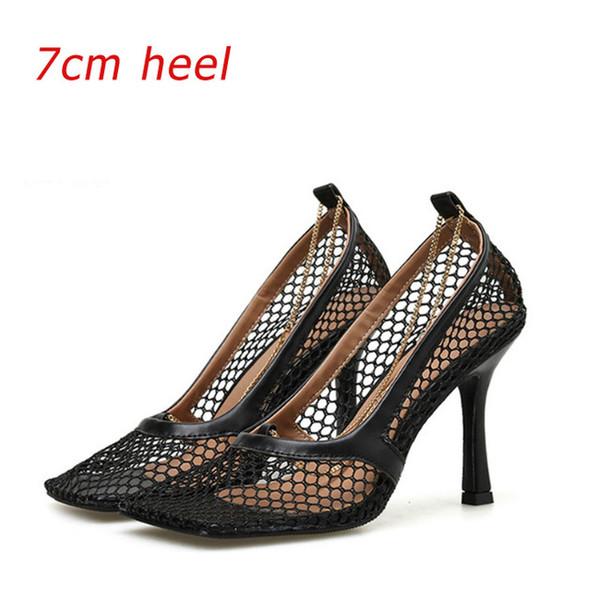 Balck Heel sete centímetros