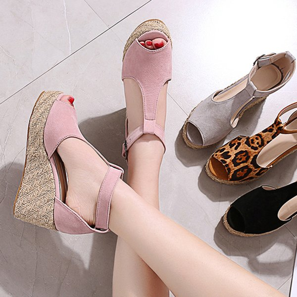 Wedges Shoes Women Sandals Gladiator Plus Size High Heels Summer Shoes Fish Mouth Sandalias Chaussures Femme Platform Sandals