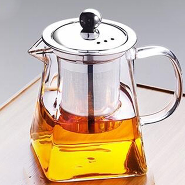 top popular New Glass Teapot With Stainless Steel Infuser And Lid For Blooming And Loose Leaf Tea Preference 2021