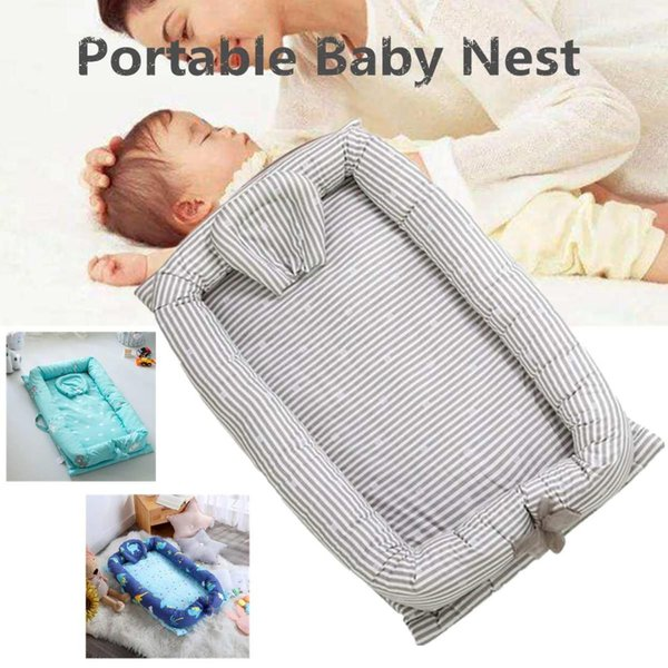 2ae092da1d Baby Nest Bed Crib Portable Removable Washable Sleeping Bed Baby Sleep Crib  Travel For Children Infant Kid Cotton Cradle