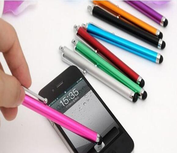 Aluminum Universal Capacitive Touch Screen Stylus Pen for Samsung Android iPhone iPad Tablet MID Cell Phone With Retail Package