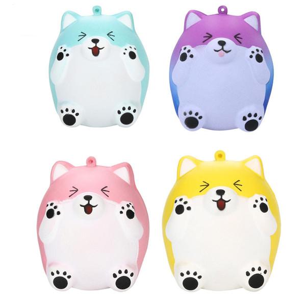Karikatur-reizende Katzen Squishy PU spielt langsame steigende Squishies-Spielwaren-Pressungs-Spielwaren-Kindergeschenk-4 Farben-gute Qualität