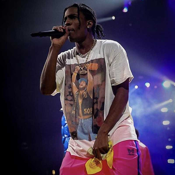 2019 ASAP ROCKY Yams Day Tee Summer Breathable Street Short Sleeves Fashion Casual Men Women Hip Hop T-shirt HFYMTX491