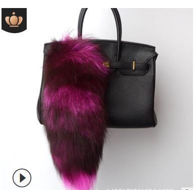 Nouveau Fox queue cheveux pendentif porte-clés pendentif vraie fourrure fourrure accessoires sac pendentif performance accessoires de scène