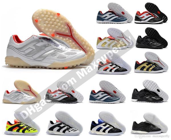 Klasikleri Predator Hassas Hızlandırıcı Elektrik TF IC TR Çim Kapalı David Beckham Erkekler Futbol Ayakkabı Cleats Futbol Çizmeler Boyutu 39-45