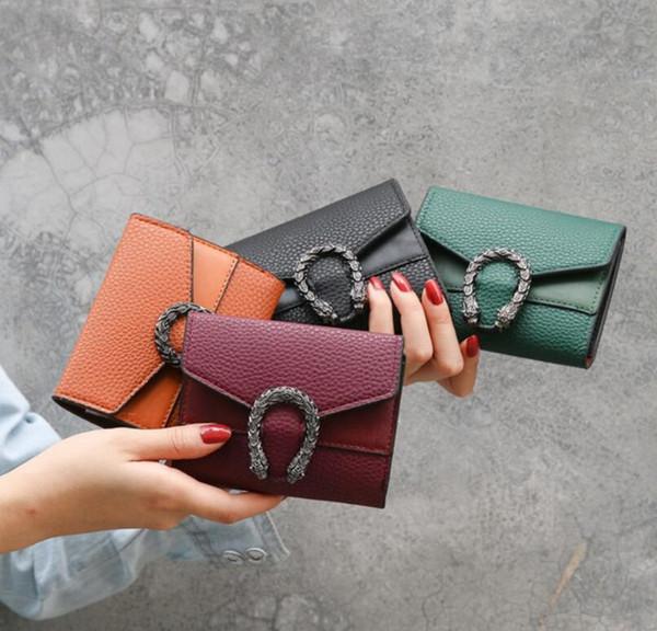 Nuovi portafogli della ragazza delle donne borsa multifunzionale di modo dei regali del sacchetto di cuoio dell'unità di elaborazione della borsa multifunzionale di modo di colore