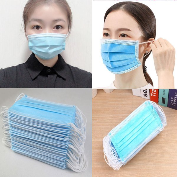 best selling ppe masques maschera mask breathe Face Masks Daily facemask Layer Protective Mask Anti Fog Dust-proof Non-woven cotton face sequin Mask