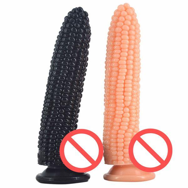 Gros gode ventouse faux pénis maïs dick sex toys pour femmes surface du vagin stimuler perles anal dildo sex shop