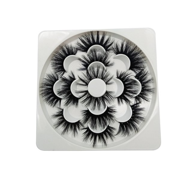 7 Pairs 6D Eyelashes Thick Natural False Lashes 25mm Big Eyes Makeup fake Eye Lashes Extension Flower Tray Popular Styles