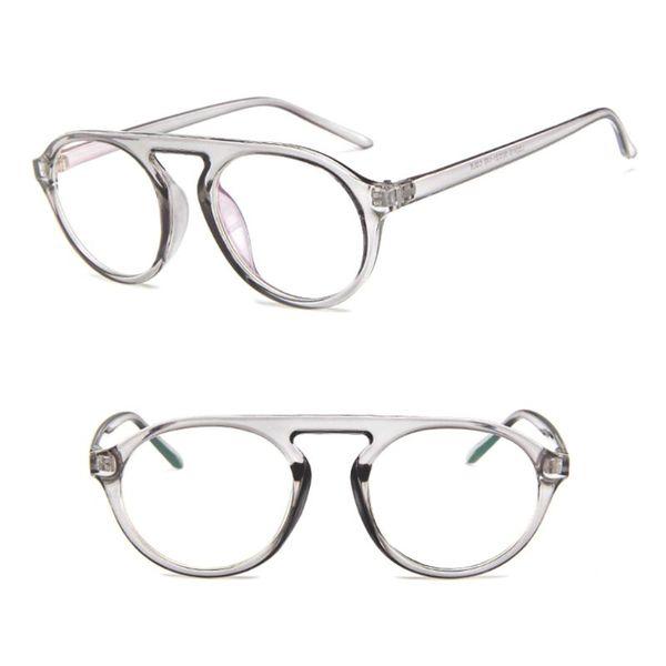 Optical Glasses Round Frame Flat Top Transparent Eyewear Eyeglasses Vintage Fashion Spectacles Myopia Lens New Design Pilot Deco