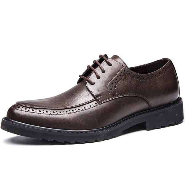 Men Groom Shoes Famous Luxury Leather Prom Formal Office Classic Loafers Dress Flats Footwear Brogue Oxford Shoes Men