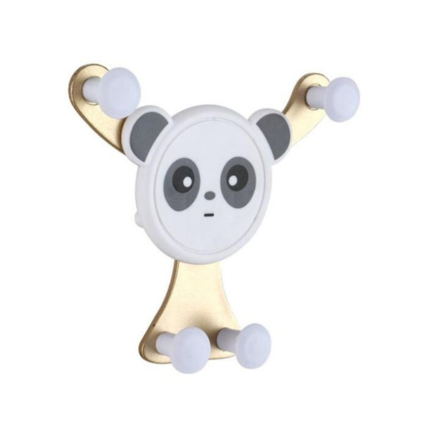 New smiley Panda gravity sensor mobile phone bracket car outlet car bracket FOR: IPHONE Samsung Huawei OPPO, etc.