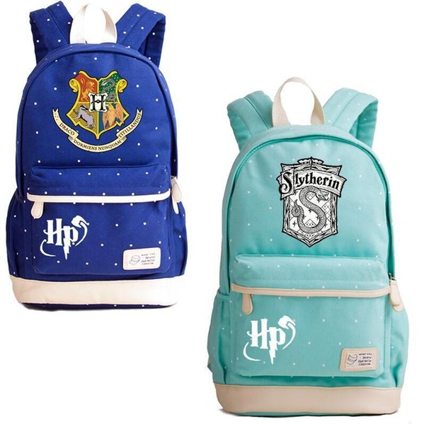selezione premium 58b65 99317 Acquista Harry Potter Hogwarts Canvas Backpack 10 Styles Hogwarts  Serpeverde Tassorosso Borsa Laptop Zaini Borse Da Viaggio Scuola Studente  Ooa5505 A ...