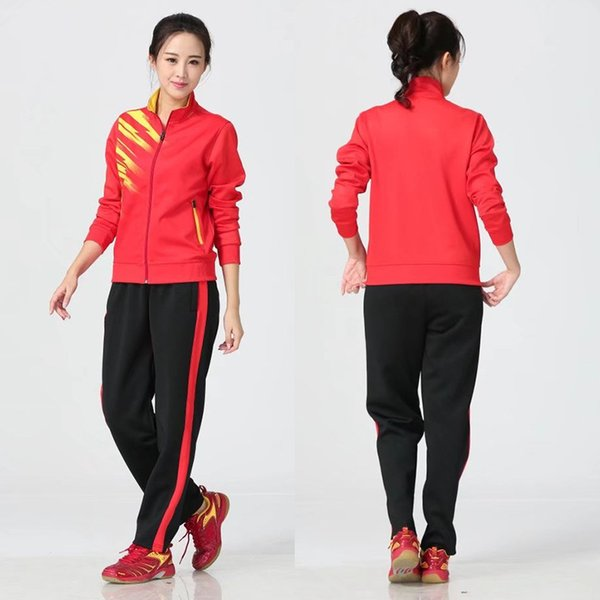 Women's red with black pants