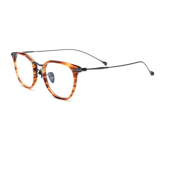 Woman Man Luxury Acetate Round Shape Optical Frame Super Light Titanium Design Eyewear Free Shipping Glasses R968