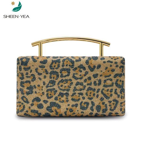 Nueva bolsa de mensajero de las mujeres de la vendimia del leopardo de Bling totalizadores vestido de fiesta cartera de mano bolsa de noche de la señora de lujo elegante del partido bolsos nobles