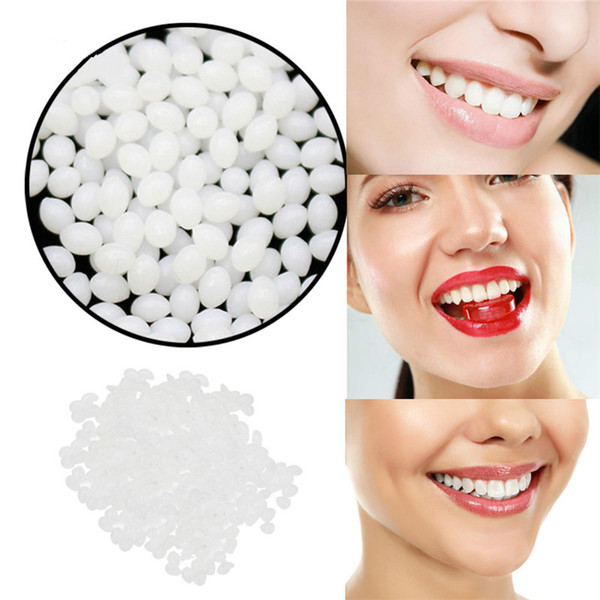 Dents de vampire Fangs Dentiers Props réparation Halloween dents temporaires dents Kit et lacunes FalseTeeth solide colle adhésive pour dentiers