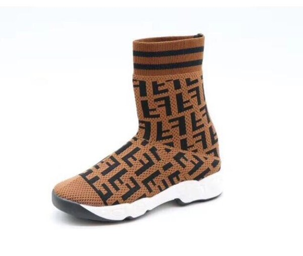 Kinder Socken Schuhe Junge Mädchen Mode High Top Casual Sport Sneaker Kinder Brief Socke Sneaker LJJK1622