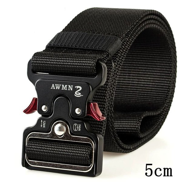 Tactical Belts Nylon Waist Belt with Metal Buckle Adjustable Heavy Duty Training Waist Belt Hunting Accessories