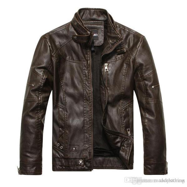 DIMUSI Erkekler Sonbahar Kış Deri Ceket Motosiklet Deri Ceketler Erkek Iş rahat Mont giyim veste en cuir 8822