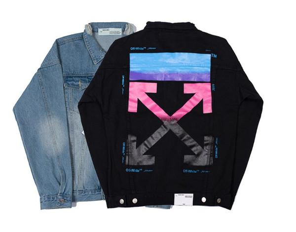2019 Gros Hommes Denim Jacket Tendance Divers Homme Jean Coat Styles Marque Designer Veste Femmes Hommes Vêtements manteau