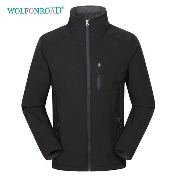WOLFONROAD New Softshell Jacket Men Big Size Jackets Black Jacket Men Hoodie Hiking Waterproof Windproof Windbreaker