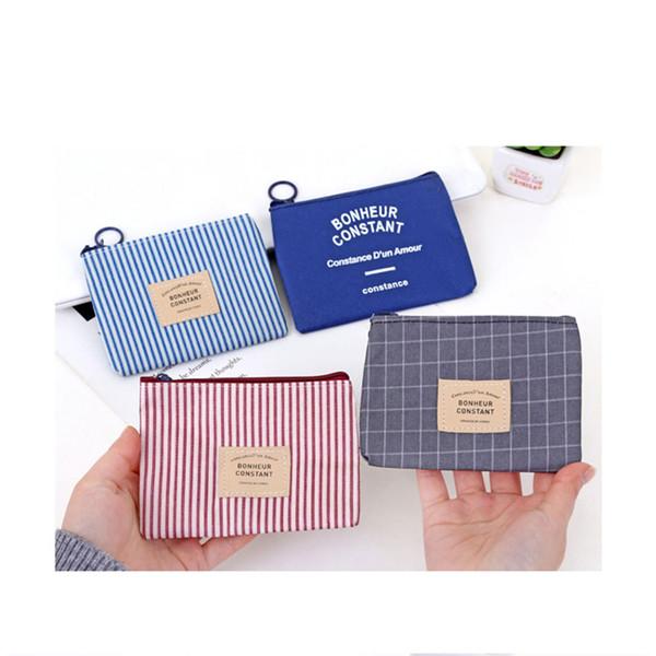 Unisex Canvas Coin Purse Mini Wallet Pouch Canvas Bag Small Wallet Zipper Coin Bag Zero Money Clutch Handbag New Hot