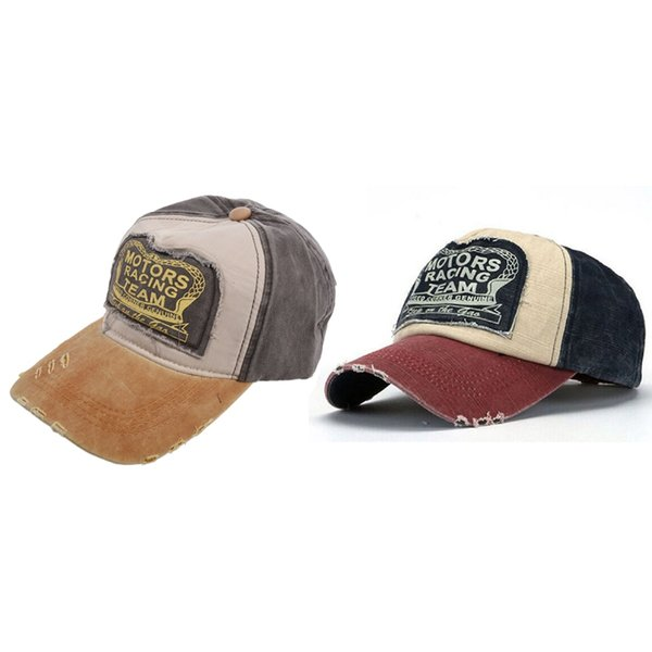2 pcs plain hip-hop re-entry baseball cap boy adjustable hat, navy blue + red & yellow