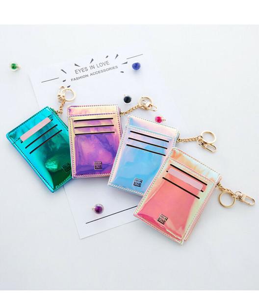 Titolare della carta pieghevole per monete da donna con portamonete leggero da donna luminoso piccolo portafoglio NOVITÀ