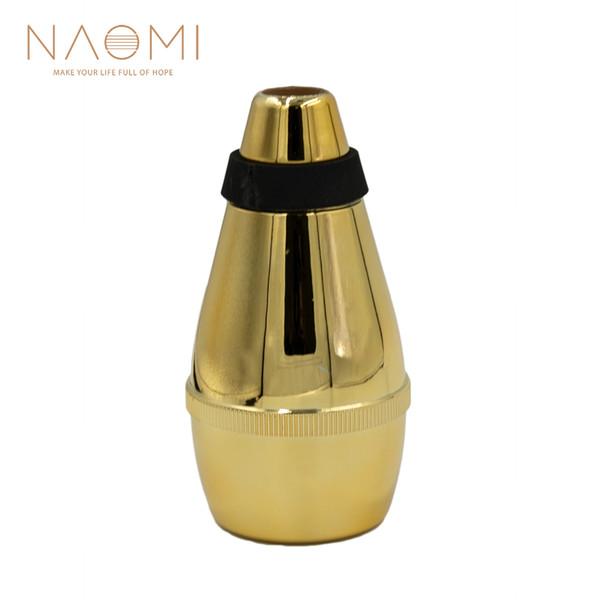 Naomi peso leve plástico trumpet straight mute silenciador para trompete acessórios de peças de sopro de madeira novo