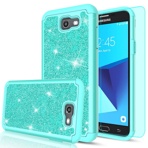 TPU+PC Hybrid Glitter Bling Case for ZTE Imperial Max Z963U/Grand X Max 2/KIRK Z988/Max Duo LTE Shockproof Protective Cover